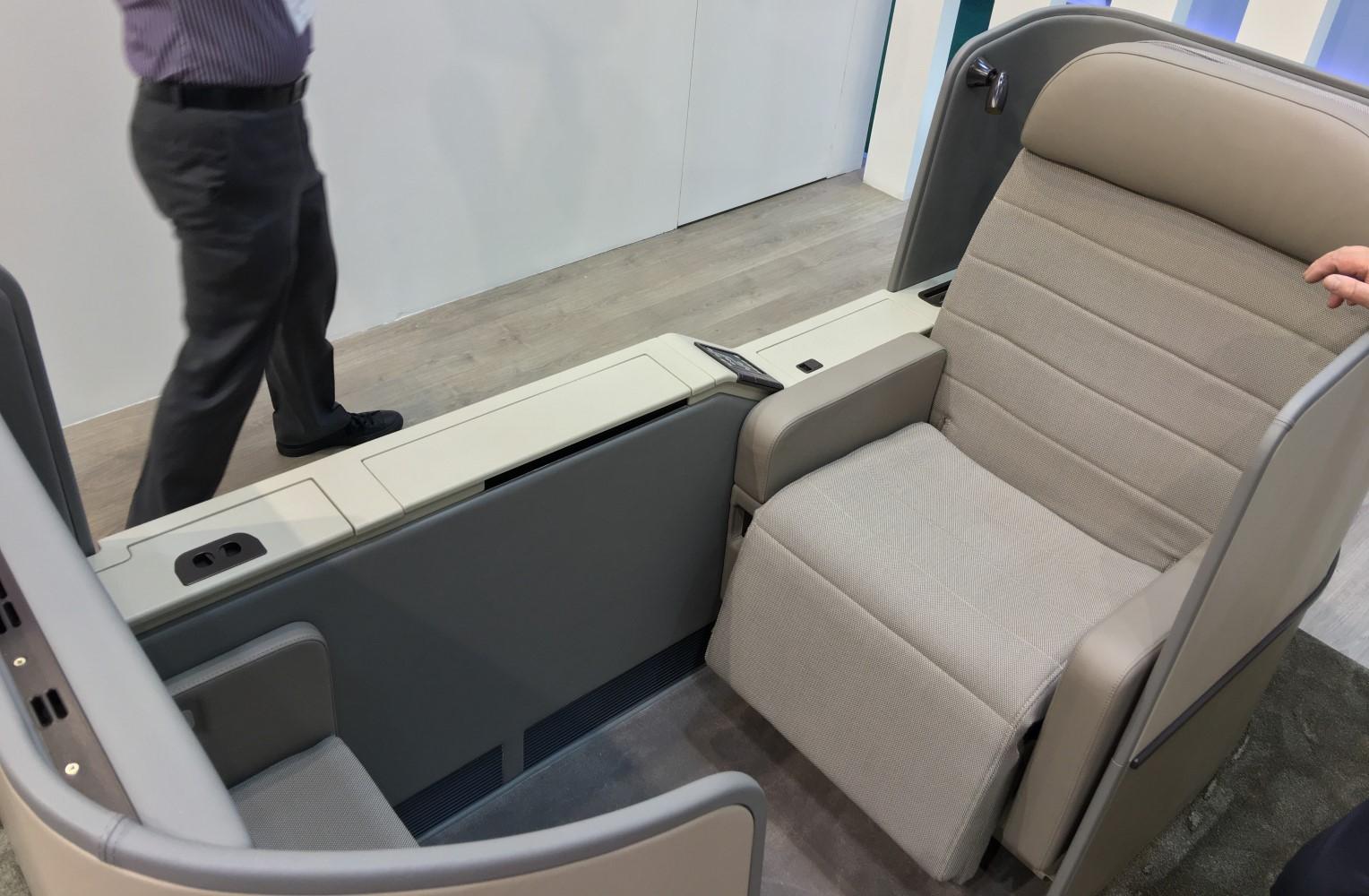 Aiointeriors current flagship is the Mona Lisa first class seat. Image: John Walton