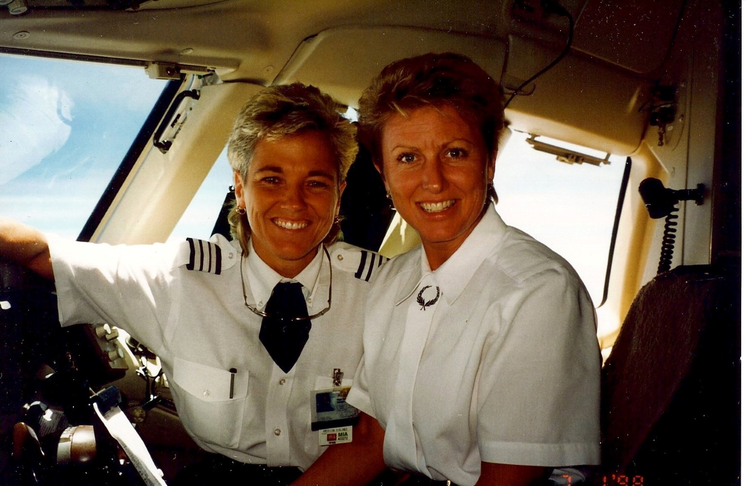 Durst and her wife, now retired flight attendant, Sher Dye recently celebrated their 20 year anniversary. Image: Kathi Durst