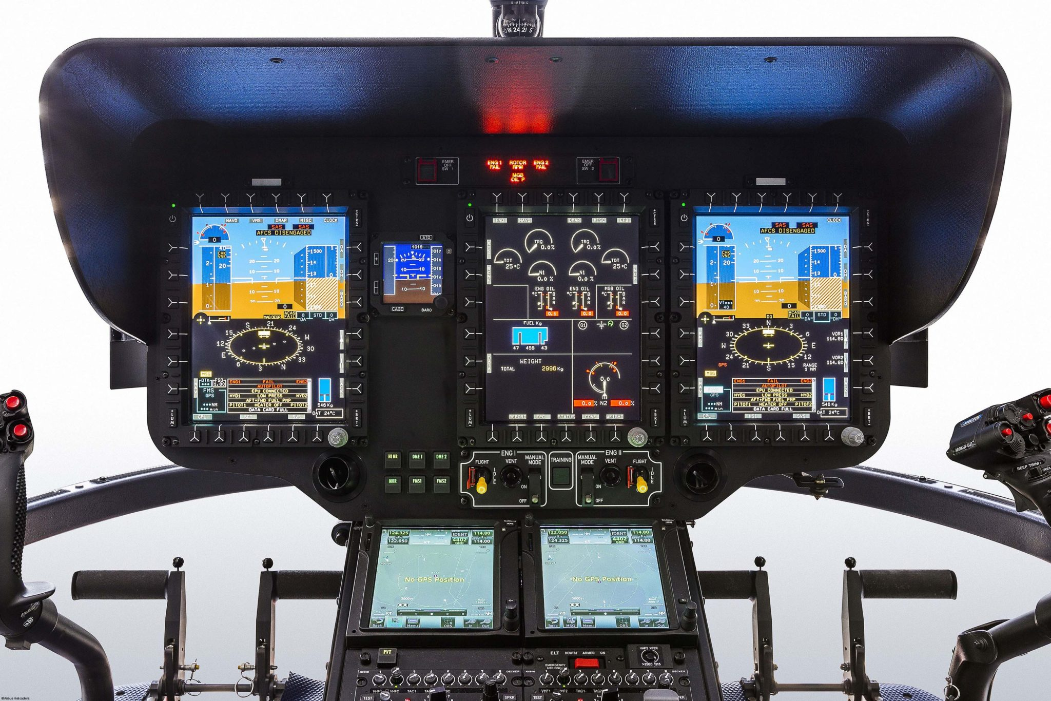 The H135's Helionix cockpit. Image: Airbus