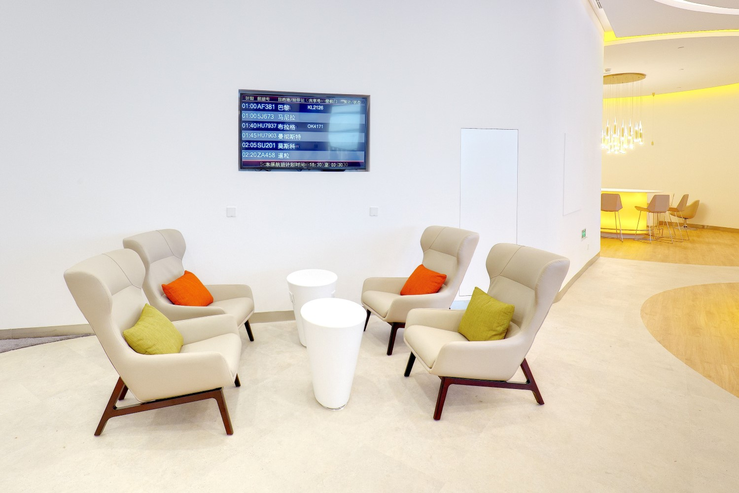 Some parts of the lounge feel a little sparse and under designed. Image: SkyTeam