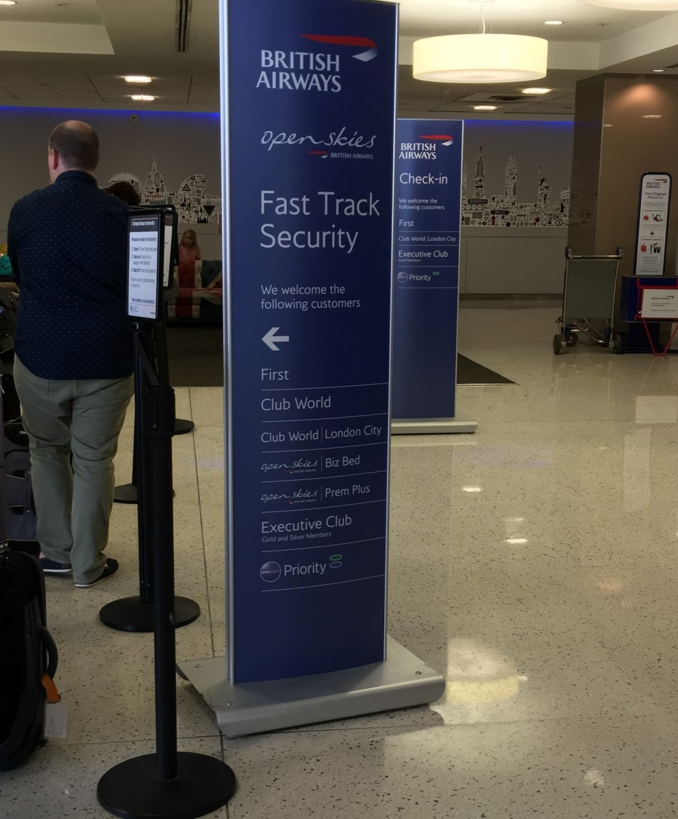 The fast track security is due for some serious work, Image: John Walton