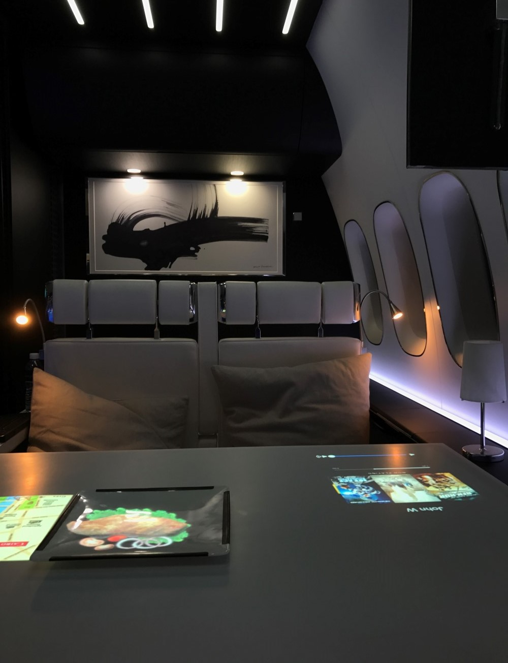 The Panasonic - JAMCO collaboration is intended to start conversations about what the future first class suite will nee, Image: John Walton