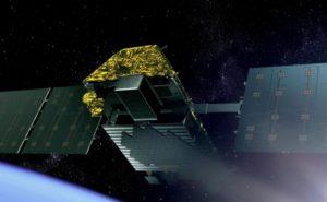 Iridium NEXT satellite in orbit
