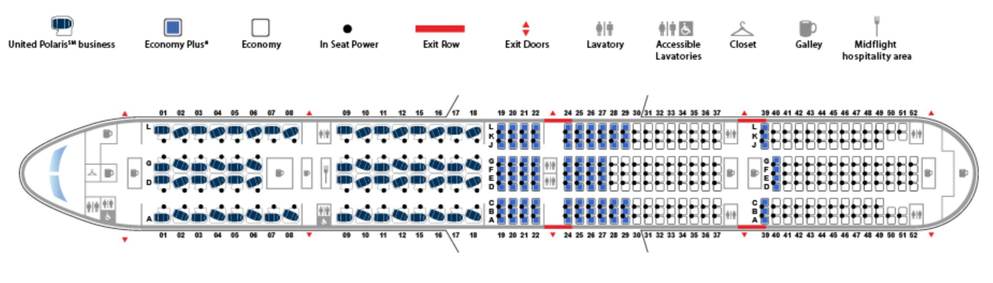The 777 300er Seat Map Emphasises Just How Much Of Real Estate Is Premium Image United