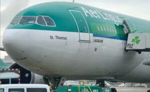 Aer Lingus A330 parked