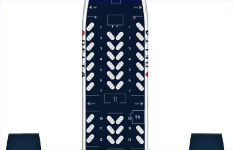 Delta's current 777 layout has some Delta One seats aft of the second doors. The new arrangement will convert that space to the Premium Select seating.