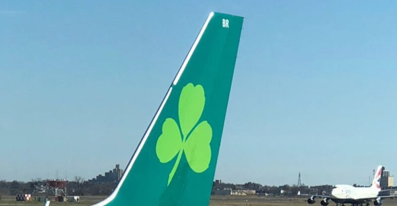 Tail of an Aer Lingus jet