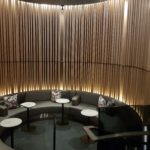Maple wood dividers were seen throughout the Air Canada Signature Suite