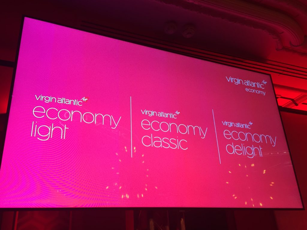 Virgin Atlantic introduces three levels of economy fares