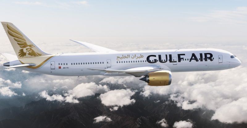 Gulf Air aircraft in flight