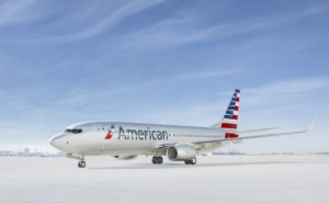 Aircraft exterior of AA 737 livery