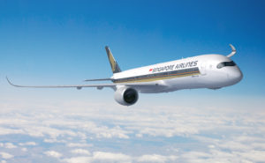 SIA A350 in-flight