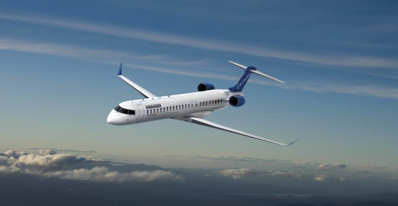 Bombardier CRJ900 affected by the climate