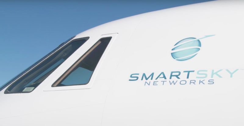 SmartSky Networks' logo displayed on the side of an aircraft