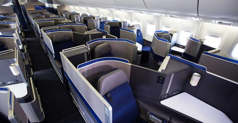 United Airlines Polaris Seat on the 767