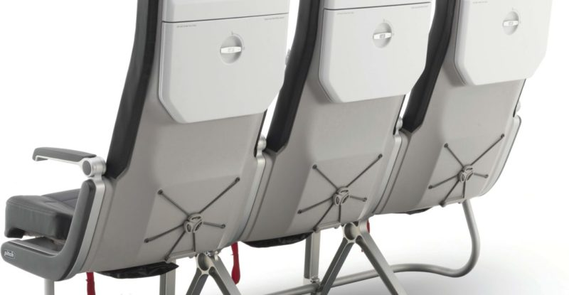 Rear view of the PF3000 seat by pitch aero recently acquired by Causeway
