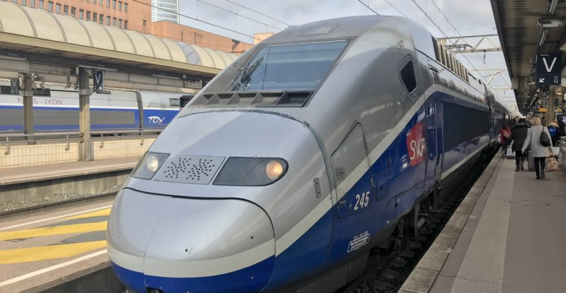 france TGV Train coming in on the track