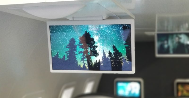 Burrana overhead screen display show HD night sky forest image