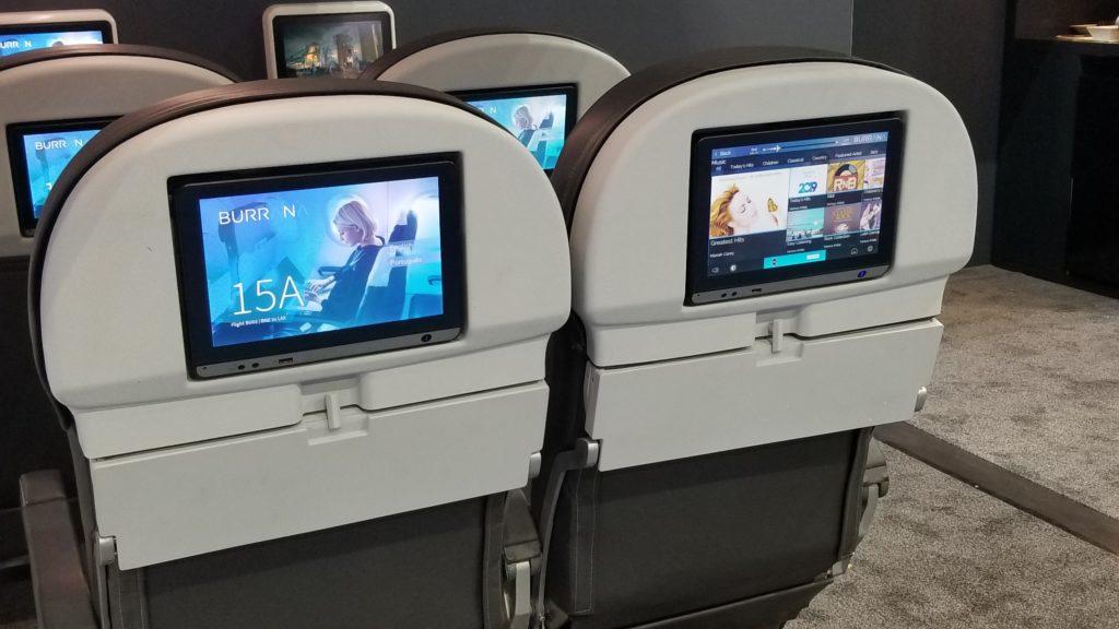 Seatback IFE in premium seating