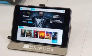 Bluebox's IFE platform displayed on an iPad.