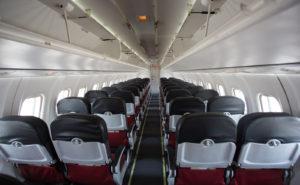 Visual inside Firefly's ATR-72-500 aircraft cabin