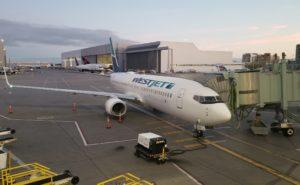 WestJet Boeing 737-800 aircradft at YYZ terminal gate