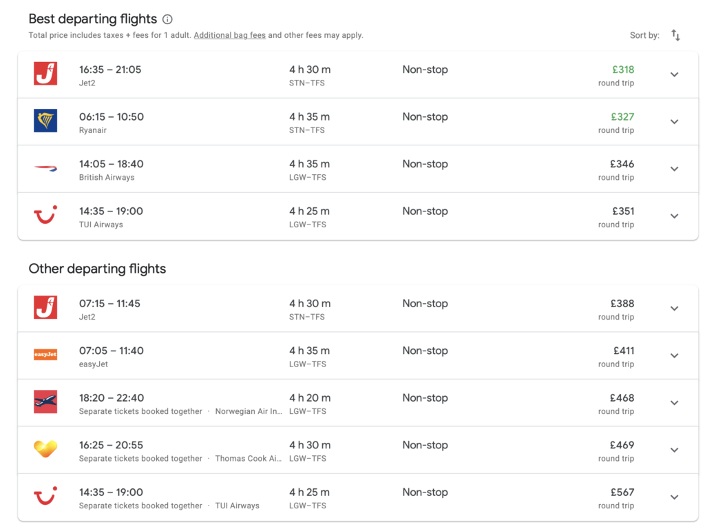 Do LCCs want to become carriers of choice_ Screenshot - Google Flights