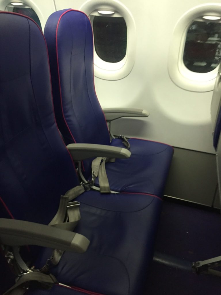 Wizz Air Seat up close