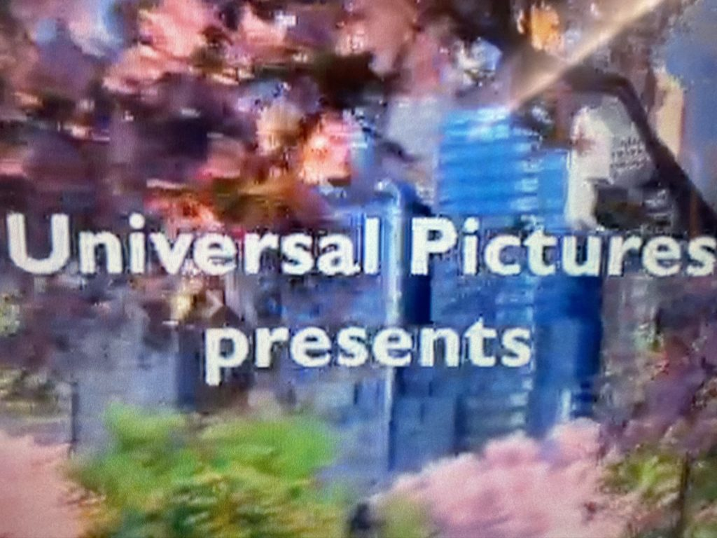 blurry universal pictures presents on delta ife screen