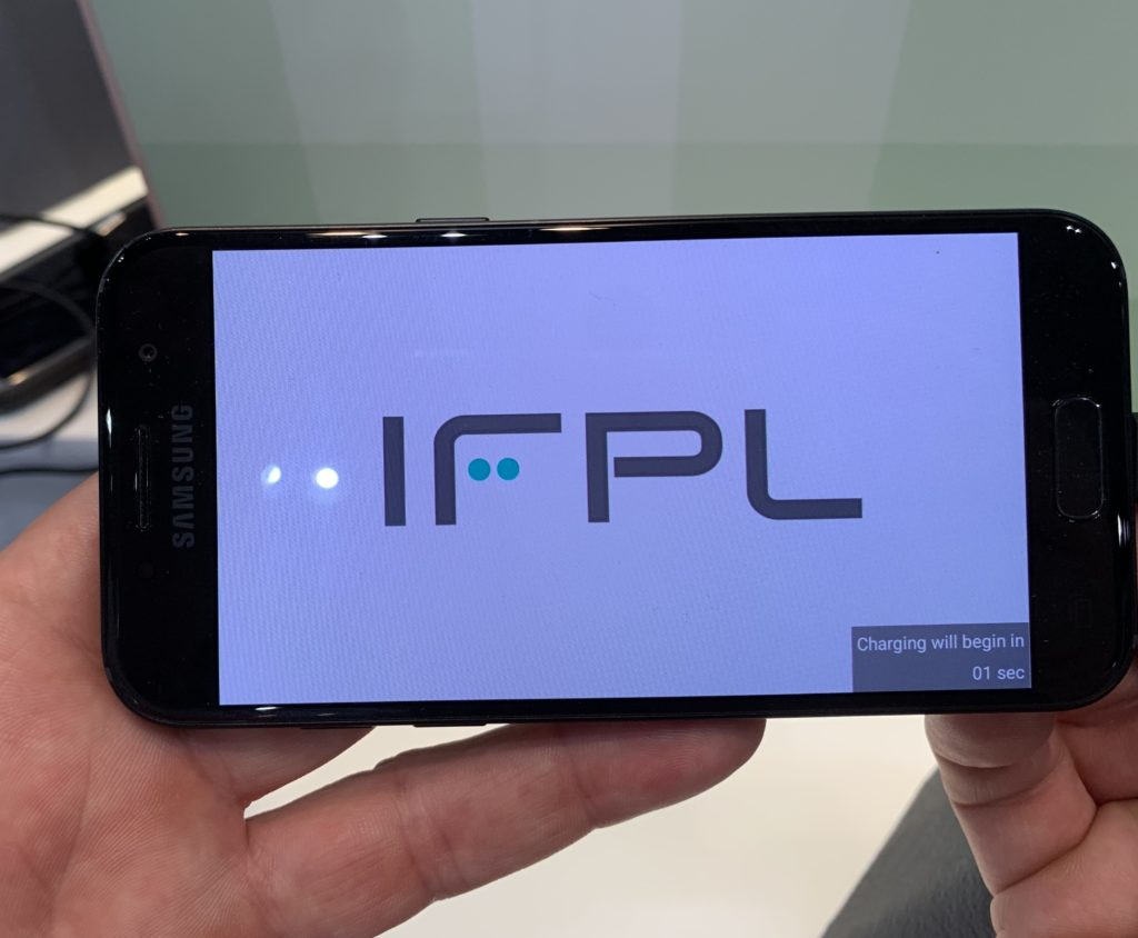 Phone displaying IFPL on it