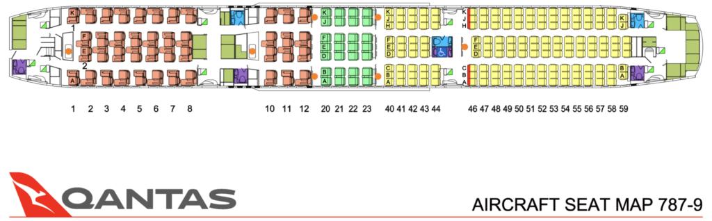 Qantas Boeing 787 seat map