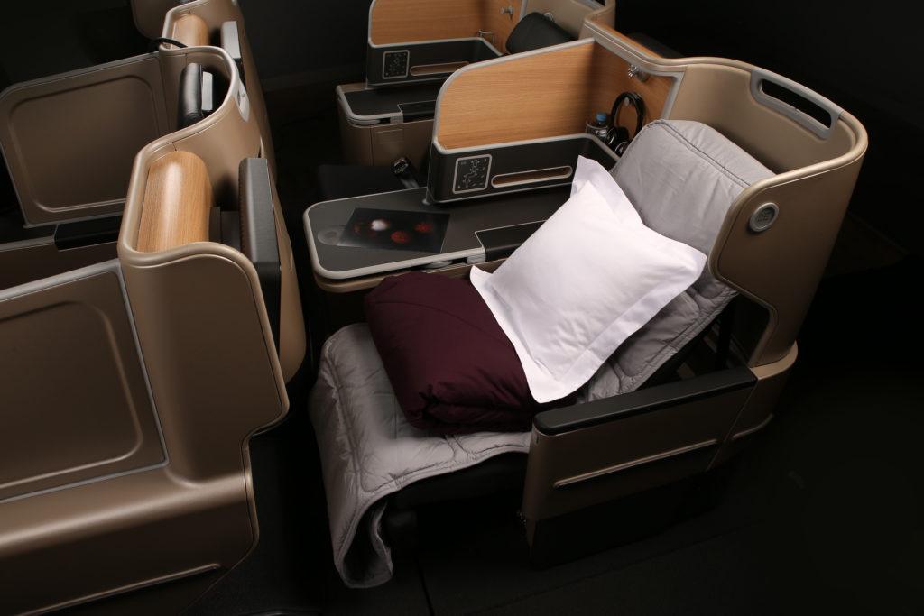 Qanatas Business suite with bedding in neutral tones