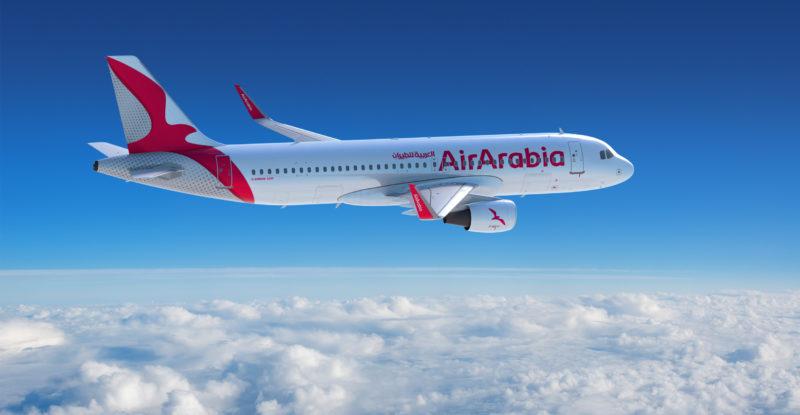 Air Arabia A320 in the clouds