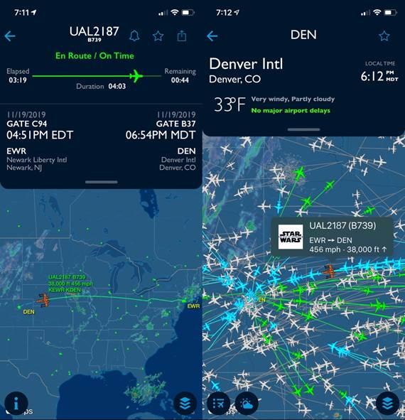 Air traffic map