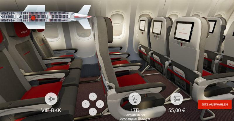 Austrian Airlines 3D Seatmap_Eco (C) Austrian Airlines