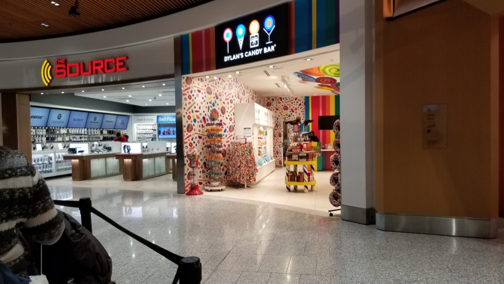 dylan's candy bar and the sourse in the airport