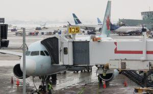 Air Canada Airbus A320 at the gate at Toronto Pearson