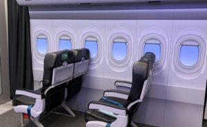 Interior cabin mock up demonstrating LiFi set up