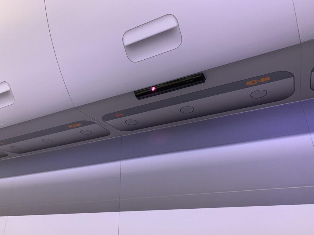 The overhead infrared beam transmitter