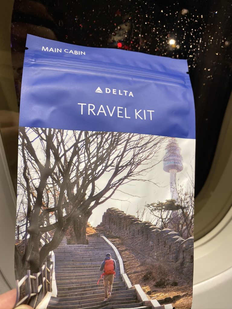Delta Air Lines Travel kit pouch