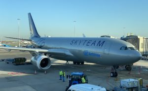 A330 Air Europa aircraft at the gate with skyteam livery