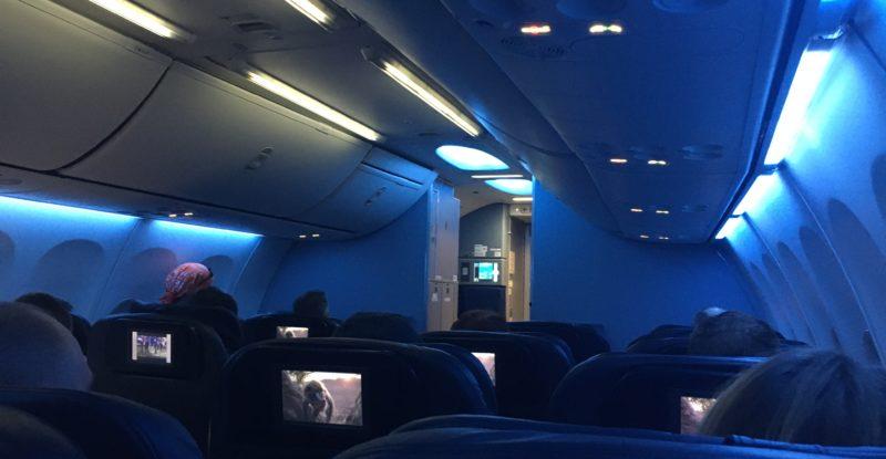 interior of the UA 739 aircraft
