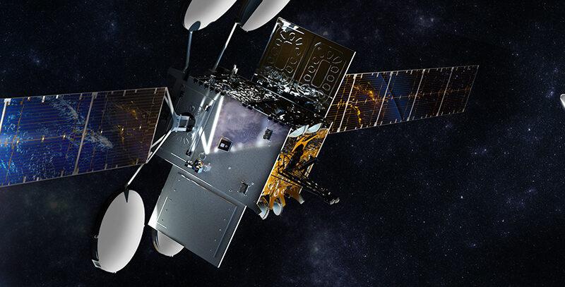 Rendering of VisSat-2 in orbit