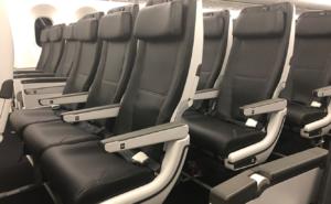 Zip economy seat front view