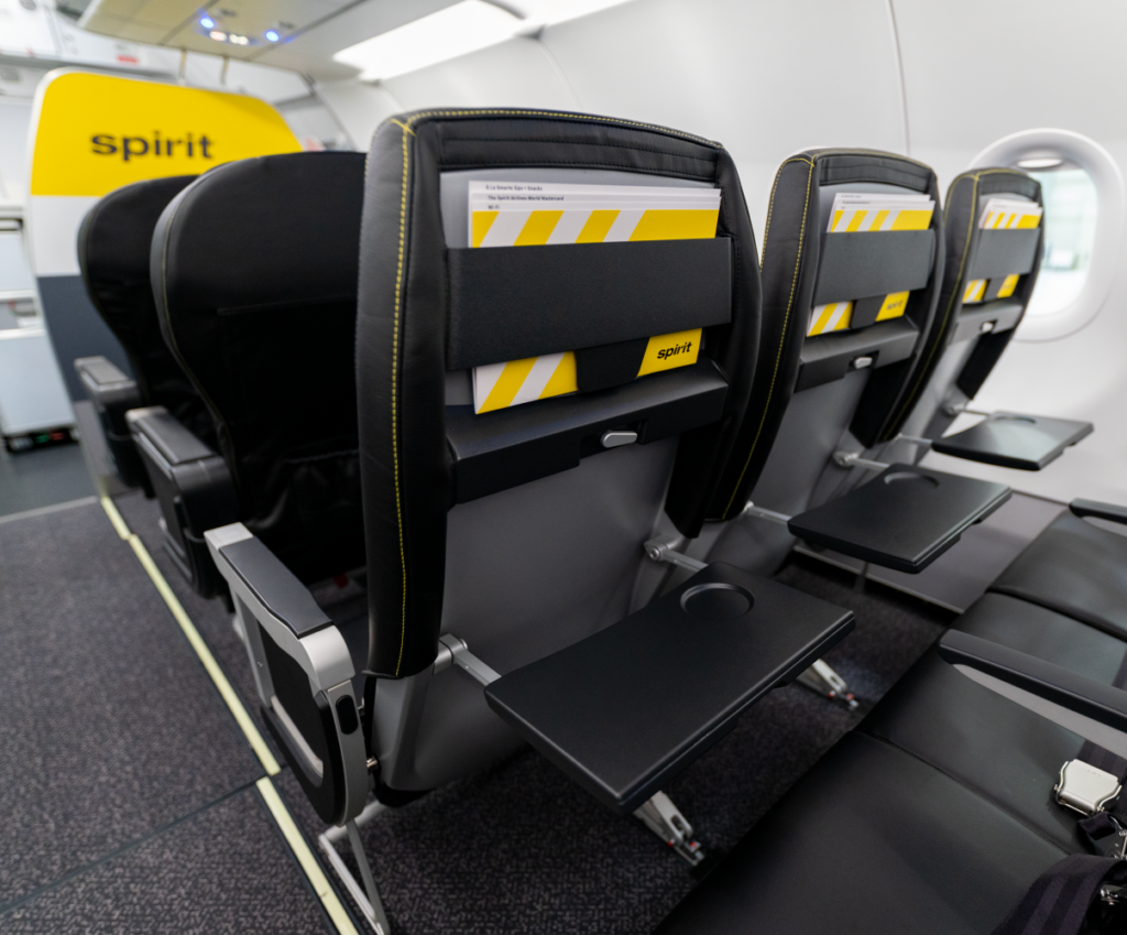 Spirit airlines Airbus A320neo cabin seat and interior