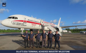 Gilat achieves ESA industry milestone – Gilat team by Honeywell test aircraft image