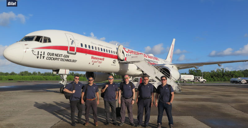 Gilat achieves ESA industry milestone – Gilat team by Honeywell test aircraft image