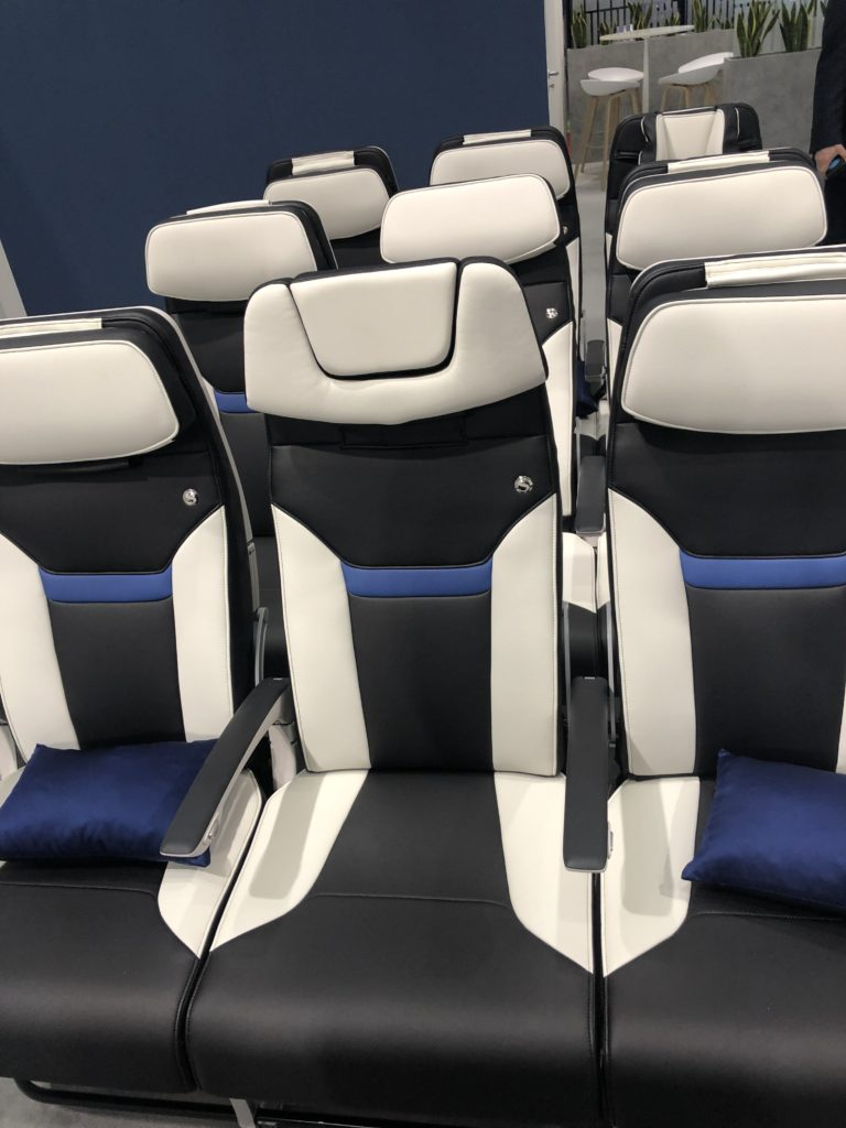 The Z400 pillow headrest functionality is tucked neatly into the seat. This photo shows the flush nature of the design