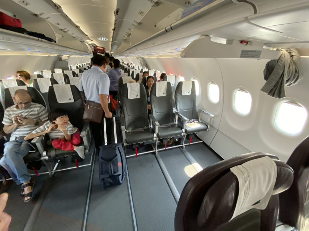 Image showing the huge gap between Bamboo's Business and economy class