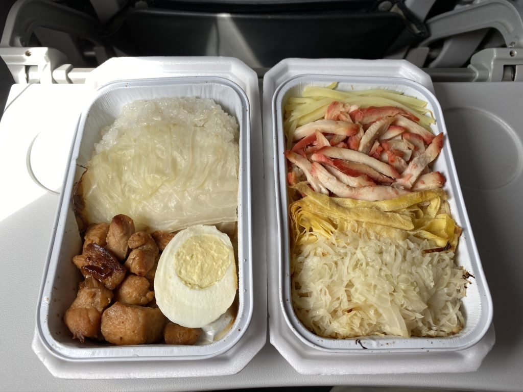 Inflight meals on JetStar